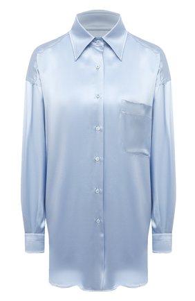 Женская шелковая рубашка TOM FORD светло-голубого цвета, арт. CA3189-FAX824 | Фото 1
