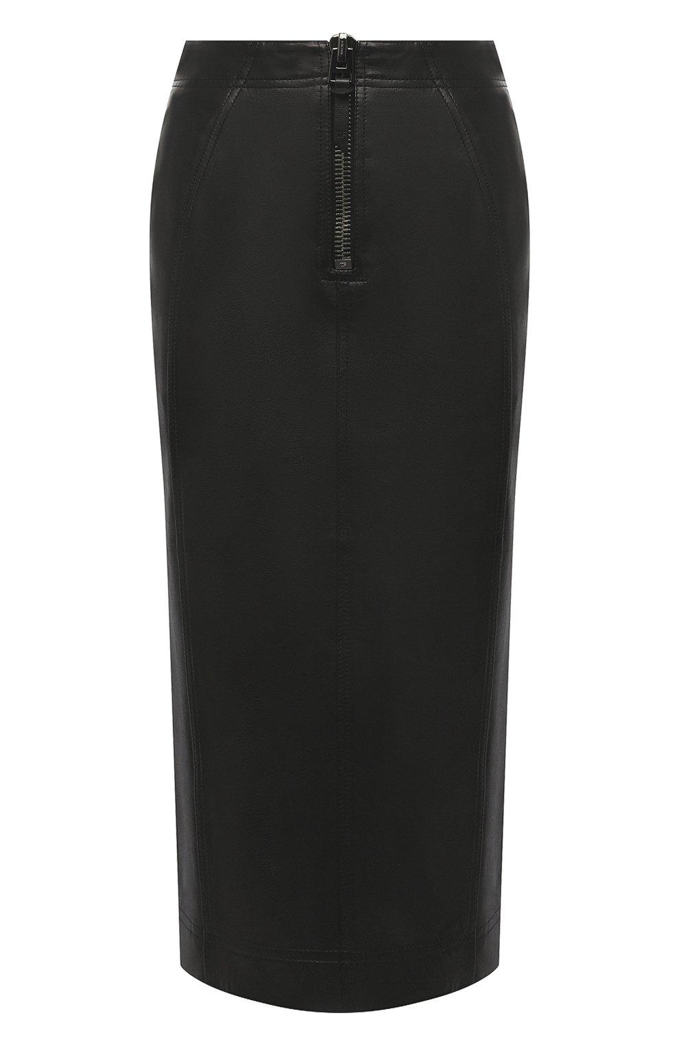 Женская кожаная юбка TOM FORD черного цвета, арт. GCL817-LEX228 | Фото 1