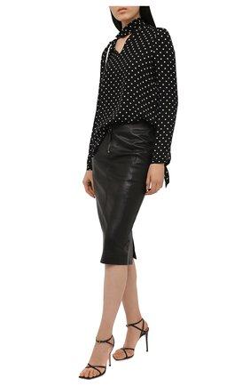 Женская кожаная юбка TOM FORD черного цвета, арт. GCL817-LEX228 | Фото 2