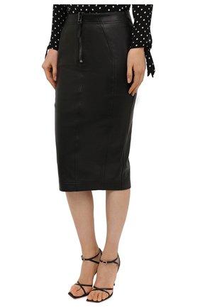 Женская кожаная юбка TOM FORD черного цвета, арт. GCL817-LEX228 | Фото 3