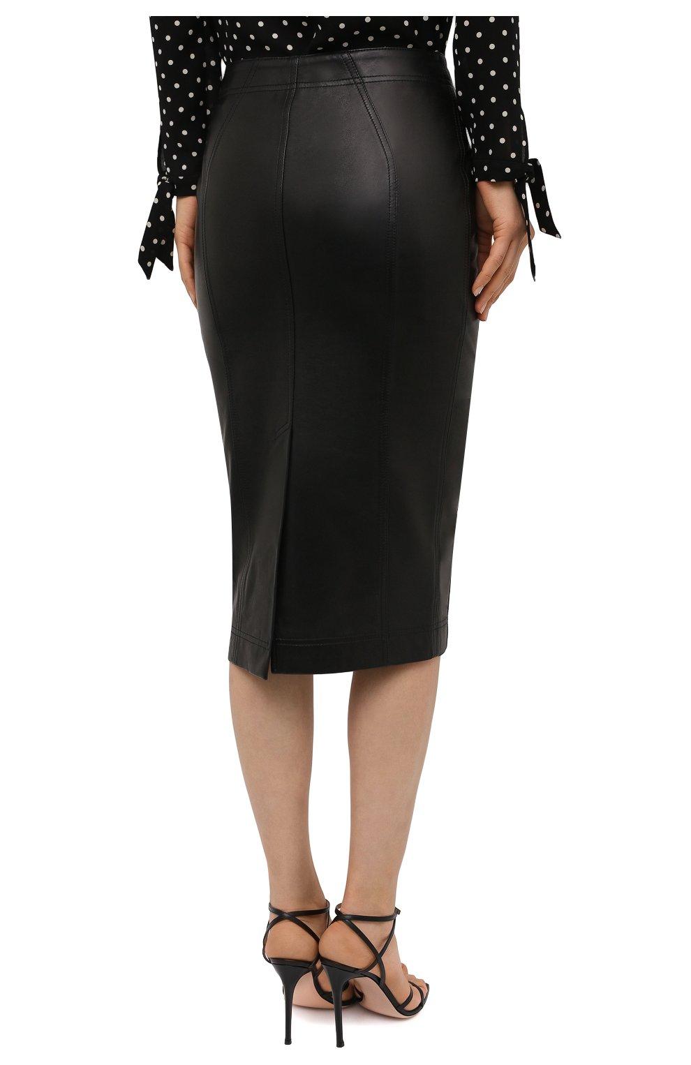 Женская кожаная юбка TOM FORD черного цвета, арт. GCL817-LEX228 | Фото 4