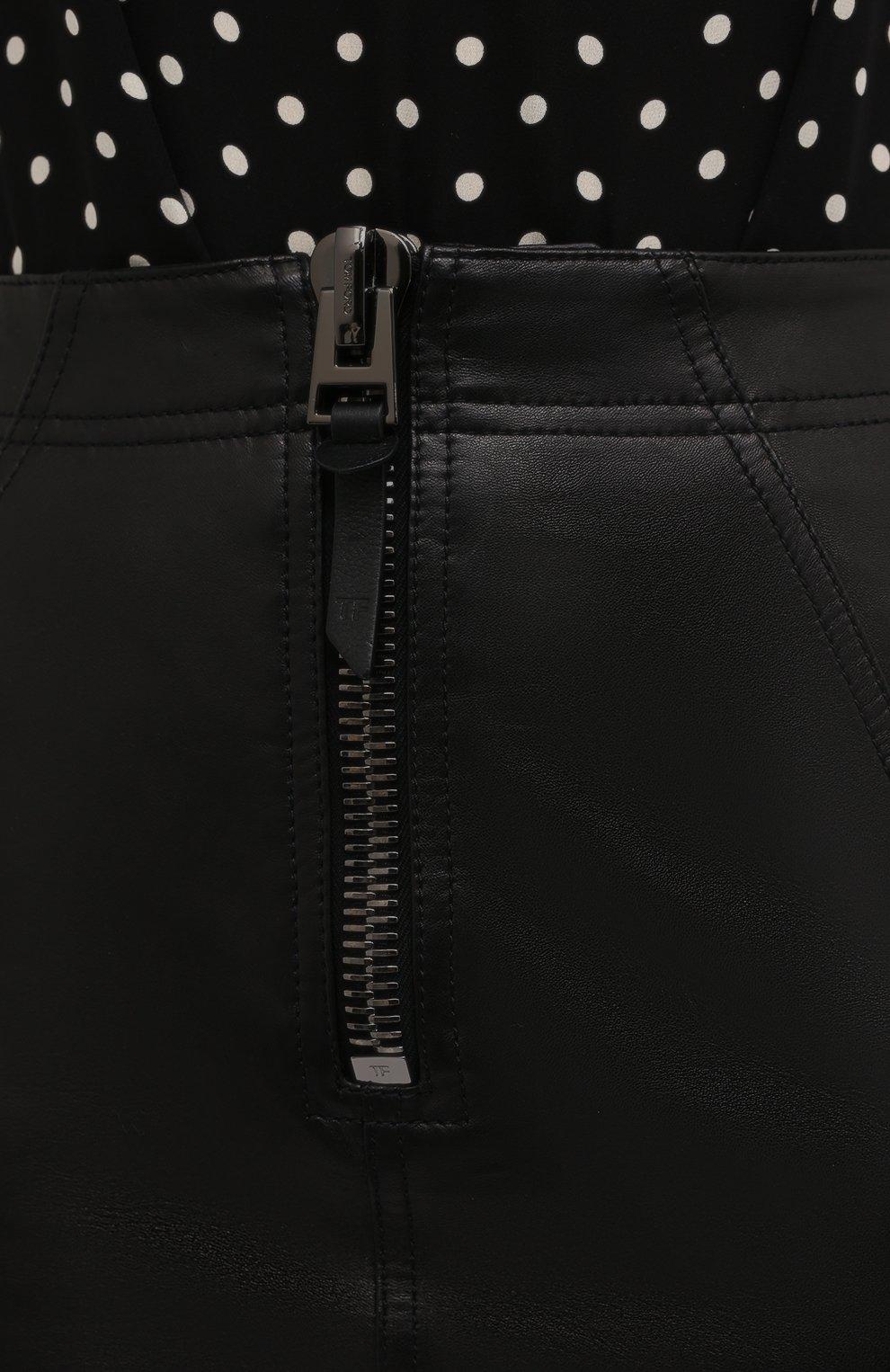 Женская кожаная юбка TOM FORD черного цвета, арт. GCL817-LEX228 | Фото 5