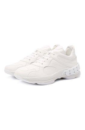 Женские кожаные кроссовки CASADEI белого цвета, арт. 2J902S0201SALEN9999 | Фото 1