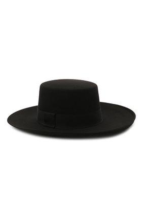Женская шляпа из шерсти кролика BALMAIN черного цвета, арт. VF1A050/F003 | Фото 1