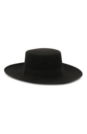 Женская шляпа из шерсти кролика BALMAIN черного цвета, арт. VF1A050/F003 | Фото 2