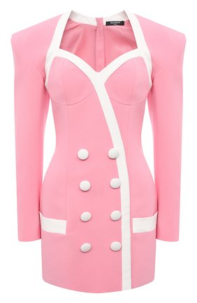 Женское платье из вискозы BALMAIN розового цвета, арт. VF16212/V089 | Фото 1