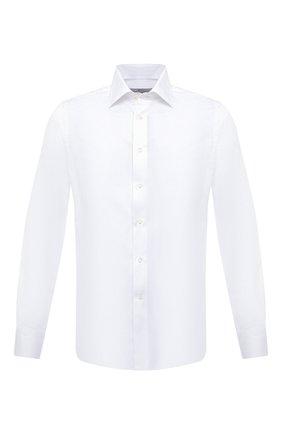 Мужская хлопковая сорочка CANALI белого цвета, арт. NX05/GR01585 | Фото 1