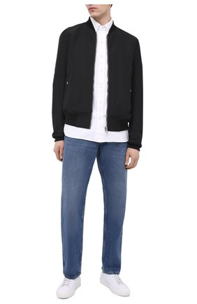 Мужские кожаные кеды CANALI белого цвета, арт. 191212/RA00541 | Фото 2 (Материал внутренний: Натуральная кожа, Текстиль; Подошва: Массивная)