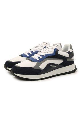 Мужские комбинированные кроссовки BOGNER черно-белого цвета, арт. 12120645/MICHIGAN 1 | Фото 1