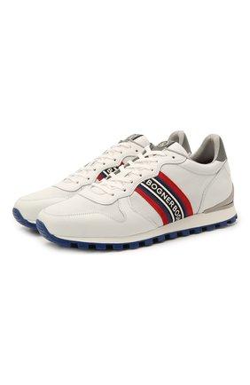 Мужские кожаные кроссовки BOGNER белого цвета, арт. 12120425/P0RT0 15 A | Фото 1 (Подошва: Массивная; Материал внутренний: Текстиль; Стили: Спорт)