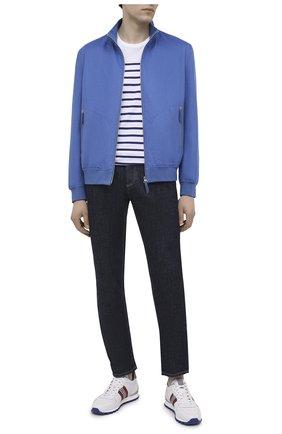 Мужские кожаные кроссовки BOGNER белого цвета, арт. 12120425/P0RT0 15 A | Фото 2 (Подошва: Массивная; Материал внутренний: Текстиль; Стили: Спорт)