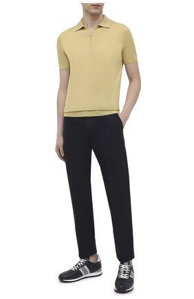 Мужские кожаные кроссовки BOGNER темно-синего цвета, арт. 12120425/P0RT0 15 A | Фото 2 (Подошва: Массивная; Материал внутренний: Текстиль; Стили: Спорт)