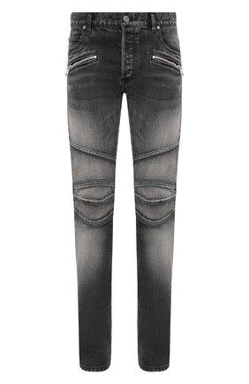Мужские джинсы BALMAIN серого цвета, арт. VH1MG006/010D   Фото 1