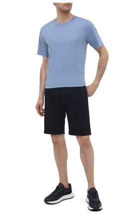 Мужские комбинированные кроссовки HOGAN темно-синего цвета, арт. HXM5630DM90PJW | Фото 2