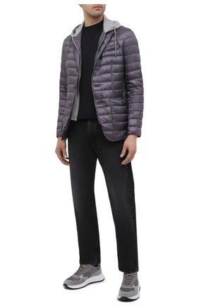 Мужские комбинированные кроссовки HOGAN серого цвета, арт. HXM5630DM90PI8 | Фото 2 (Подошва: Массивная; Материал внешний: Текстиль; Материал внутренний: Текстиль; Стили: Спорт)