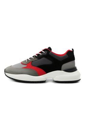 Мужские комбинированные кроссовки HOGAN разноцветного цвета, арт. HXM5450DH10PFG | Фото 3 (Материал внешний: Текстиль; Стили: Гранж; Материал внутренний: Текстиль; Подошва: Массивная)