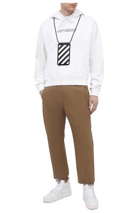 Мужские текстильные кеды off-court OFF-WHITE белого цвета, арт. 0MIA065R21FAB0010101   Фото 2