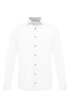 Мужская хлопковая сорочка ETON белого цвета, арт. 1000 02254 | Фото 1 (Рукава: Длинные; Материал внешний: Хлопок; Длина (для топов): Стандартные; Случай: Формальный; Принт: Однотонные; Рубашки М: Super Slim Fit; Манжеты: На пуговицах; Воротник: Акула; Стили: Классический)