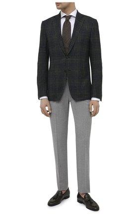 Мужская хлопковая сорочка ETON белого цвета, арт. 1000 02254 | Фото 2 (Рукава: Длинные; Материал внешний: Хлопок; Длина (для топов): Стандартные; Случай: Формальный; Принт: Однотонные; Рубашки М: Super Slim Fit; Манжеты: На пуговицах; Воротник: Акула; Стили: Классический)
