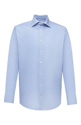 Мужская хлопковая сорочка ETON синего цвета, арт. 1000 02216 | Фото 1 (Материал внешний: Хлопок; Рукава: Длинные; Длина (для топов): Стандартные; Случай: Формальный; Принт: С принтом; Рубашки М: Regular Fit; Манжеты: На пуговицах; Воротник: Кент; Стили: Классический)