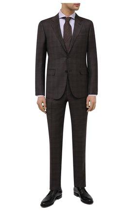 Мужские кожаные дерби W.GIBBS черного цвета, арт. 8378101/2438   Фото 2