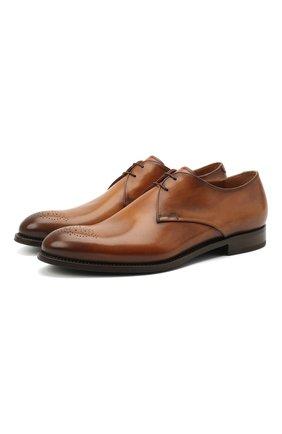 Мужские кожаные дерби W.GIBBS коричневого цвета, арт. 8378101/2438   Фото 1