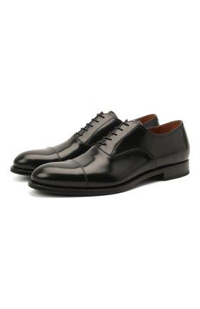 Мужские кожаные оксфорды W.GIBBS черного цвета, арт. 8378003/2437   Фото 1