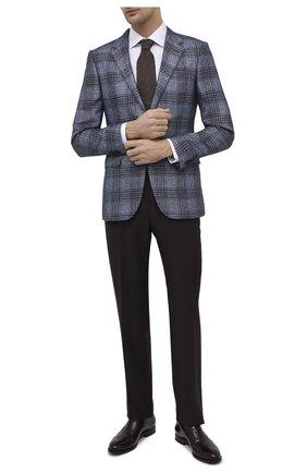 Мужские кожаные оксфорды W.GIBBS бордового цвета, арт. 8378003/2437 | Фото 2 (Материал внутренний: Натуральная кожа; Стили: Классический)