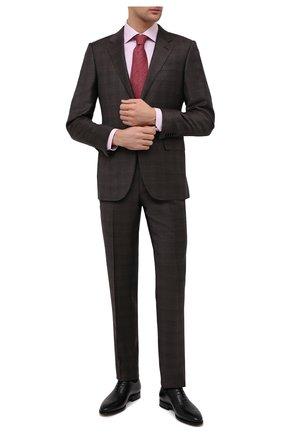 Мужские кожаные оксфорды W.GIBBS черного цвета, арт. 7255012/2102   Фото 2 (Материал внутренний: Натуральная кожа; Мужское Кросс-КТ: Броги-обувь; Стили: Классический)