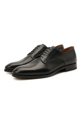 Мужские кожаные дерби W.GIBBS черного цвета, арт. 7255005/2102   Фото 1