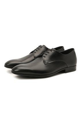 Мужские кожаные дерби W.GIBBS черного цвета, арт. 2339006/1640 | Фото 1 (Материал внутренний: Натуральная кожа; Стили: Классический)
