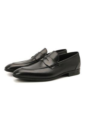 Мужские кожаные пенни-лоферы W.GIBBS черного цвета, арт. 2339003/1640 | Фото 1 (Материал внутренний: Натуральная кожа; Мужское Кросс-КТ: Лоферы-обувь; Стили: Классический)