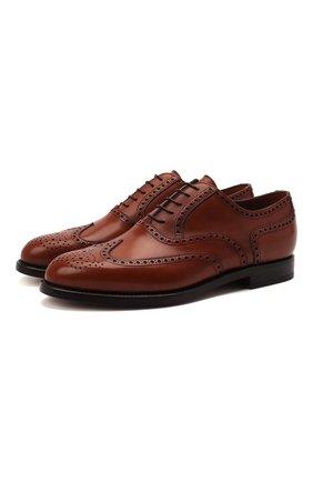 Мужские кожаные оксфорды W.GIBBS светло-коричневого цвета, арт. 0999032/0040   Фото 1