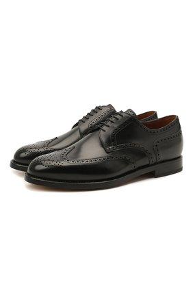 Мужские кожаные дерби W.GIBBS черного цвета, арт. 0999004/0040   Фото 1