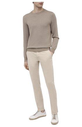 Мужские кожаные кеды W.GIBBS белого цвета, арт. 0284006/1678 | Фото 2