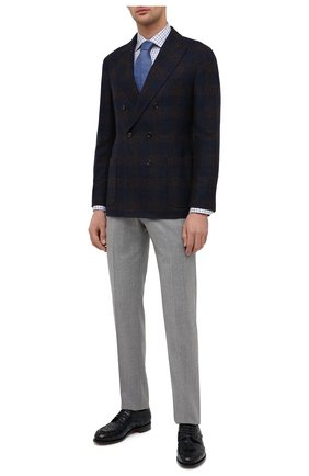 Мужские кожаные дерби SANTONI темно-синего цвета, арт. MCC017553MC3HVVDU59 | Фото 2