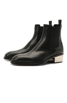Мужские кожаные челси ALEXANDER MCQUEEN черного цвета, арт. 645894/WHZG2 | Фото 1