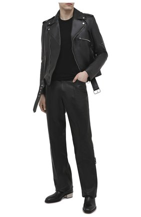 Мужские кожаные челси ALEXANDER MCQUEEN черного цвета, арт. 645894/WHZG2 | Фото 2