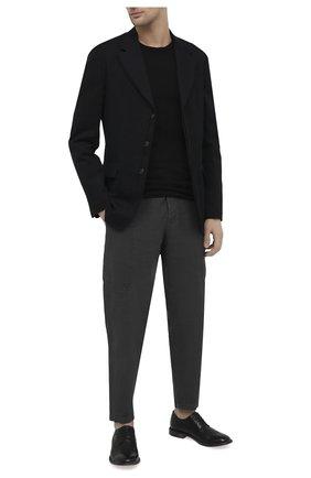 Мужские кожаные дерби MOMA черного цвета, арт. 2AS132-S0   Фото 2