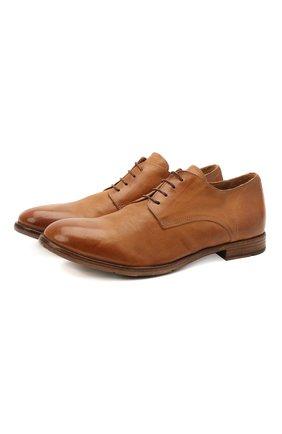 Мужские кожаные дерби MOMA коричневого цвета, арт. 2AS120-S0 | Фото 1 (Материал внутренний: Натуральная кожа; Стили: Классический)