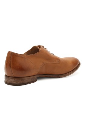 Мужские кожаные дерби MOMA коричневого цвета, арт. 2AS120-S0 | Фото 4 (Материал внутренний: Натуральная кожа; Стили: Классический)