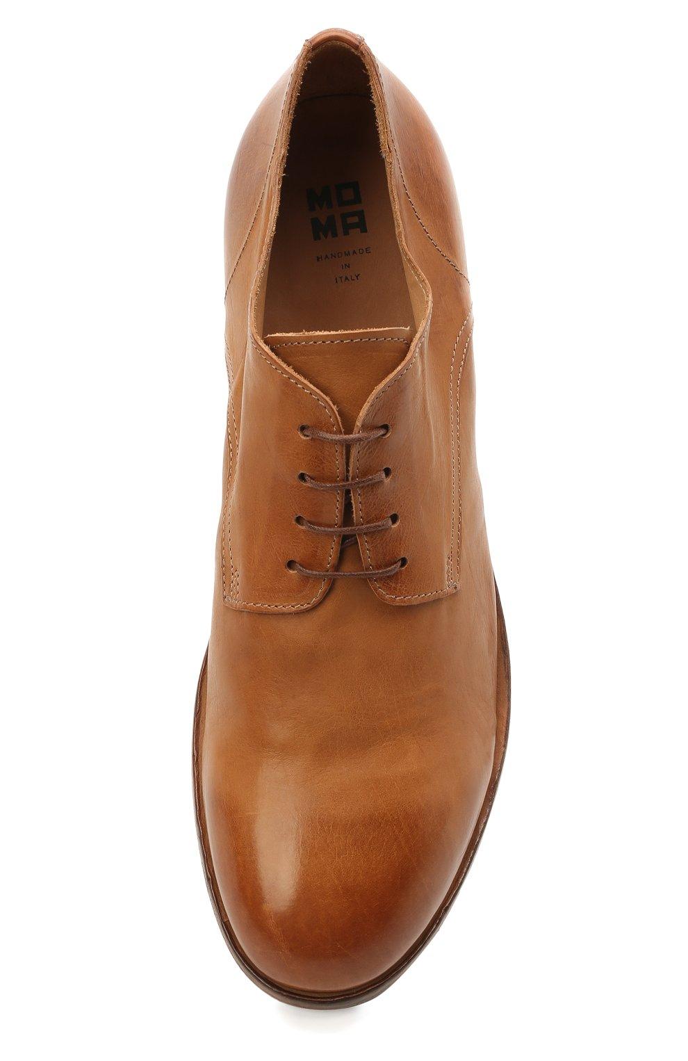 Мужские кожаные дерби MOMA коричневого цвета, арт. 2AS120-S0 | Фото 5 (Материал внутренний: Натуральная кожа; Стили: Классический)