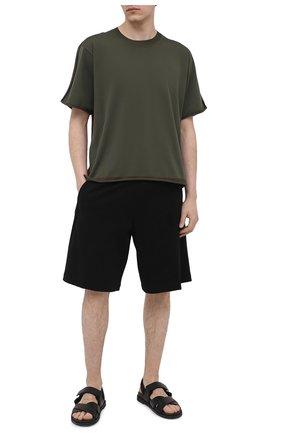 Мужские шорты из вискозы NEIL BARRETT черного цвета, арт. PBPA768K/Q002 | Фото 2