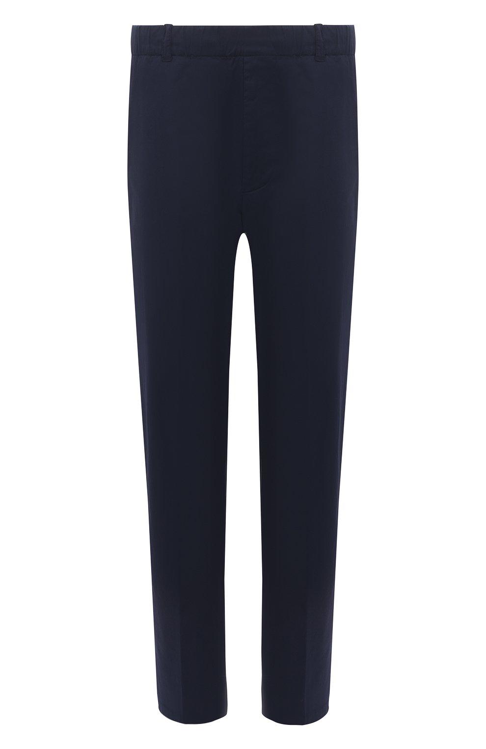 Мужские хлопковые брюки ASPESI темно-синего цвета, арт. S1 A CP32 G436 | Фото 1 (Длина (брюки, джинсы): Стандартные; Случай: Повседневный; Материал внешний: Хлопок; Стили: Кэжуэл)