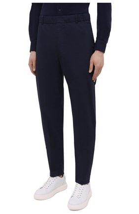 Мужские хлопковые брюки ASPESI темно-синего цвета, арт. S1 A CP32 G436 | Фото 3 (Длина (брюки, джинсы): Стандартные; Случай: Повседневный; Материал внешний: Хлопок; Стили: Кэжуэл)