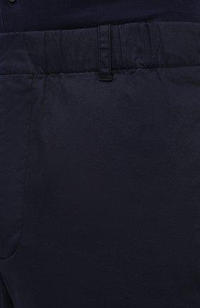 Мужские хлопковые брюки ASPESI темно-синего цвета, арт. S1 A CP32 G436 | Фото 5 (Длина (брюки, джинсы): Стандартные; Случай: Повседневный; Материал внешний: Хлопок; Стили: Кэжуэл)