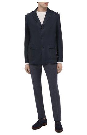 Мужская кожаная куртка ANDREA CAMPAGNA темно-синего цвета, арт. 61200E5PI2600 | Фото 2 (Длина (верхняя одежда): Короткие; Материал подклада: Шелк; Рукава: Длинные; Кросс-КТ: Куртка; Мужское Кросс-КТ: Кожа и замша; Стили: Кэжуэл)
