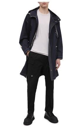 Мужские хлопковые брюки-карго RICK OWENS черного цвета, арт. RU21S6379/TE | Фото 2