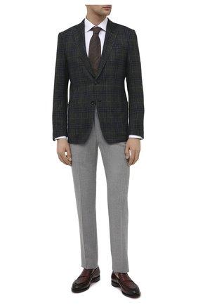 Мужские кожаные лоферы SANTONI коричневого цвета, арт. MCC017554MC3HVVDQ52 | Фото 2 (Материал внутренний: Натуральная кожа; Мужское Кросс-КТ: Лоферы-обувь; Стили: Классический)