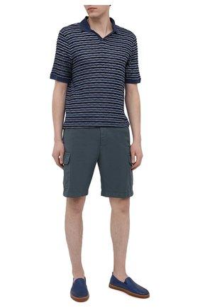 Мужские кожаные слипоны H`D`S`N BARACCO темно-синего цвета, арт. R0DI.24* | Фото 2